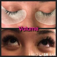 Eyelash extensions ( promo ) specialize in volume and classic