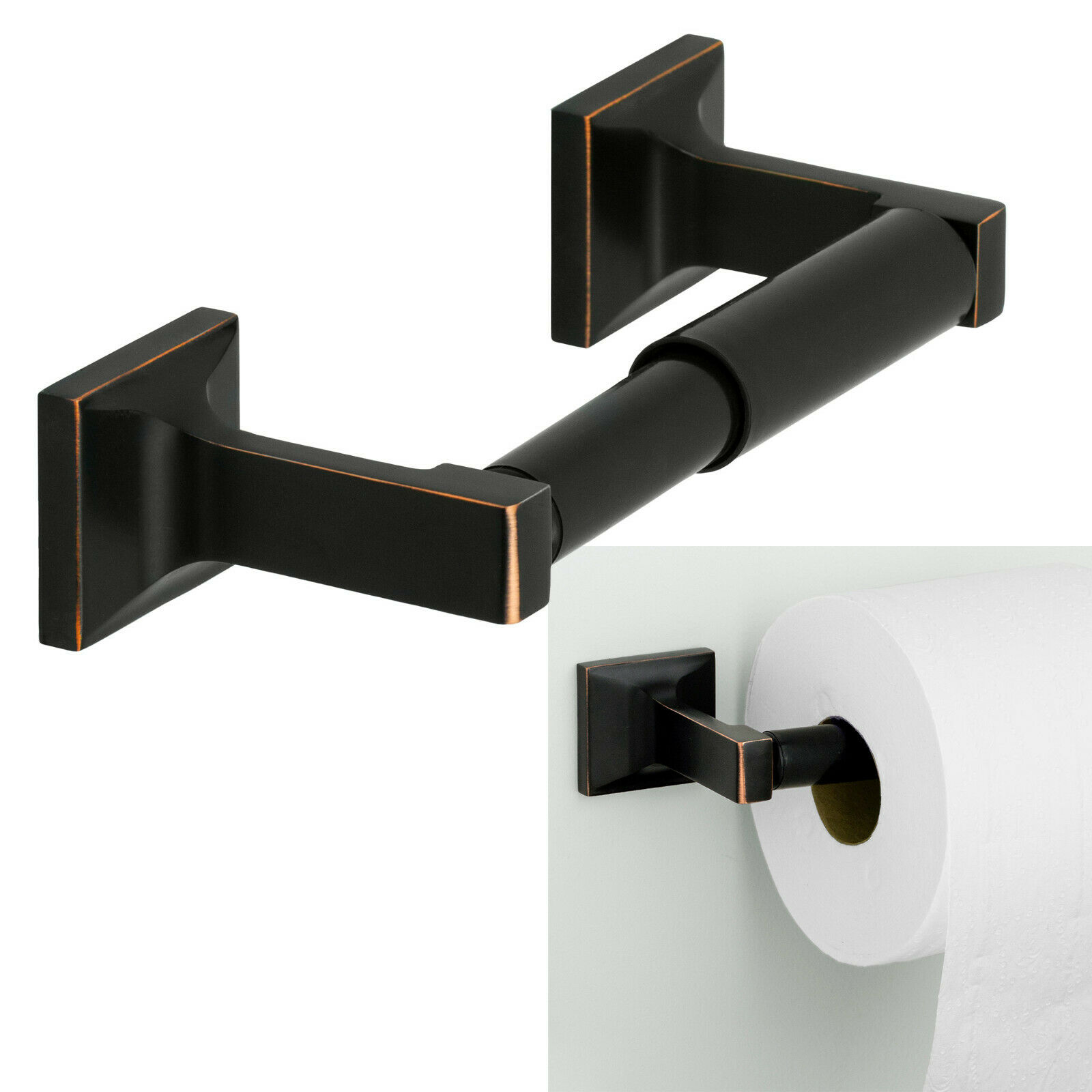 Redwood Toilet Tissue Paper Holder Bath Hardware Accessory, Oil Rubbed Bronze Bath