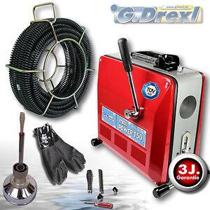 G-Drexl Rohrreinigungsgerät Profi MAXI Power 150 Set1