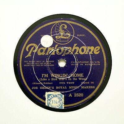 "JOE GREEN'S ROYAL MUSIC MAKERS ""I'm Wingin' Home"" Aussie PARLOPHONE [78 RPM]"