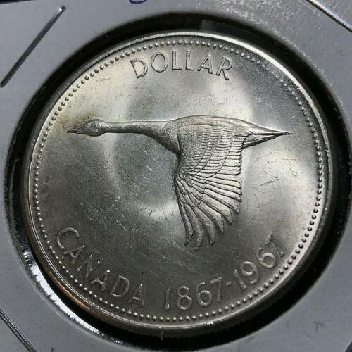 1967 CANADA SILVER  GOOSE DOLLAR BRILLIANT UNCIRCULATED CROWN