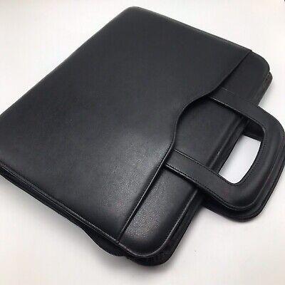 Day Timer 3 Ring Black Zippered Briefcase Drop Handle Organizer Planner 2001