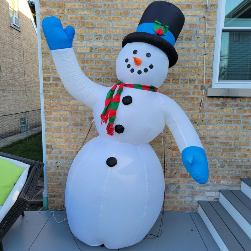 Holiday Home Accents Airblown Inflatable Snowman 8 Ft Hat - Christmas - #208 250