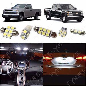 8x white led lights interior package kit for 2004 2012 chevy colorado cc3w ebay for Chevy colorado interior lights