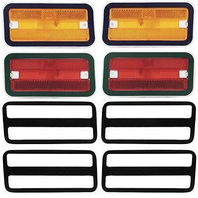 1970 ~ 81 Firebird Side Marker Lamp Light & Bezel Set Front /Rear /Right /Left