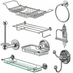 Bathroom accessories burlington traditional chrome shower soap dish rack ebay Traditional bathroom accessories chrome