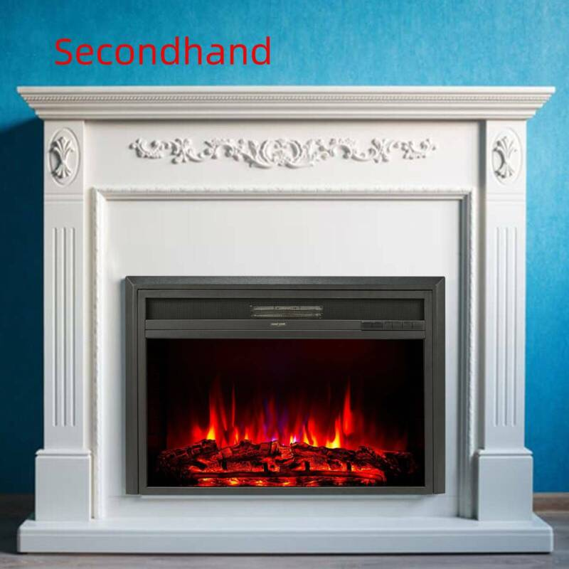 "Secondhand 32"" 1500W Recessed Electric Heater Fireplace Inse"