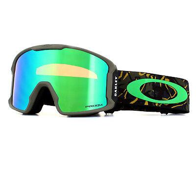 fd7da4250e98 Oakley Ski Goggles Line Miner OO7070-38 Camo Vine Jungle Prizm Jade Iridium