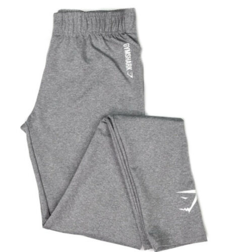 New Womens GymShark Gym Shark Ladies Athletic Gym Pants Leggings Sweatpants Grey