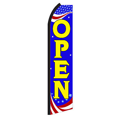 Open Rwb Advertising Flutter Feather Sign Swooper Banner Flag Only