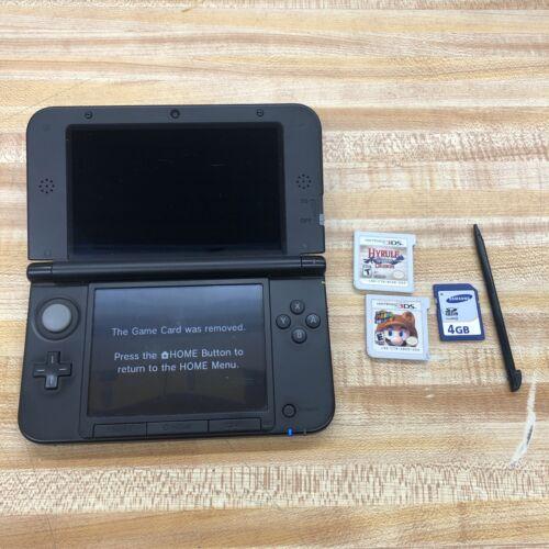 Nintendo 3DS XL Black W/ 2 Games - 4GB Mem/Card And Pen  - $250.00