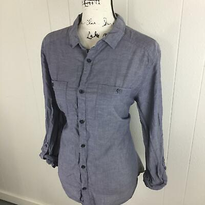 DIVIDED by H&M Button Down Long Sleeve Blue Casual Shirt Women's Size Large