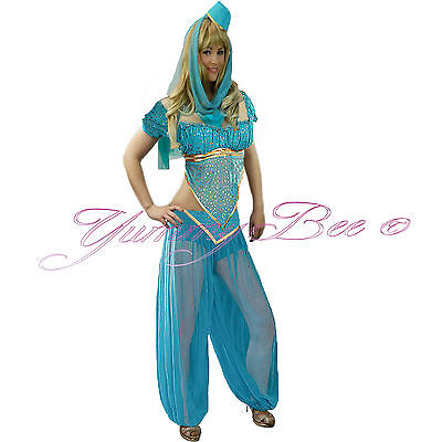 Fancy Dress Princess Costume Belly Dancer Arabian Women Bollywood Plus Size 6-18 - Plus Size Belly Dancer Halloween Costume