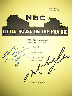 Little House On Prairie Signed TV Script Michael Landon Alison Arngrim reprint