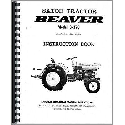 Satoh S370 Diesel Tractor Owners Operators Manual