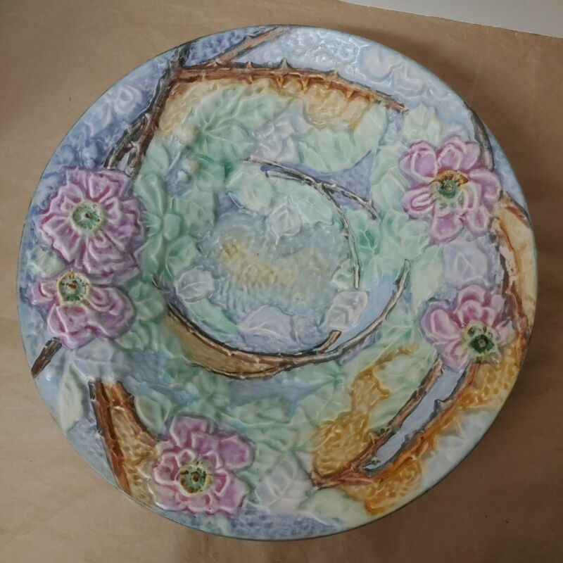 Weller pottery, silvertone console Bowl