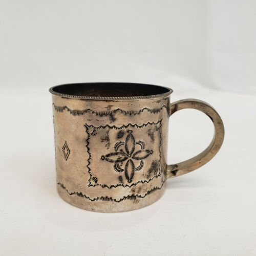 STERLING SILVER BABY CUP by JEFFREY CASTILLO – NAVAJO, Pre-Owned