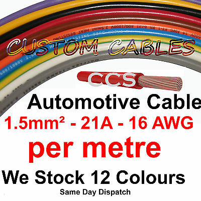 1m BLACK AUTO CABLE, 21 AMP CAR WIRING LOOM WIRE, 21A AUTOMOTIVE Kit
