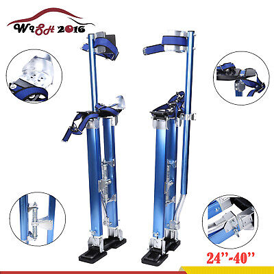 24-40 Inch Drywall Stilts Aluminum Tool Stilt For Painting Painter Taping Blue