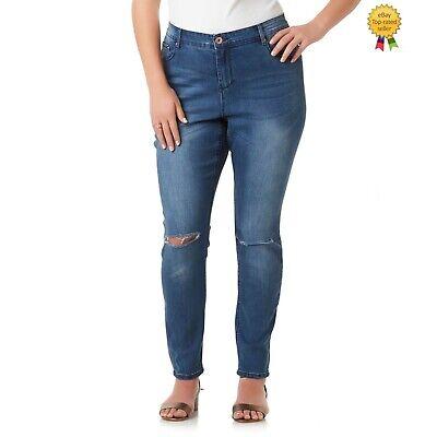 Emma Womens Jeans - Simply Emma Womens Plus Distressed Skinny Jeans size 18W 22W NEW