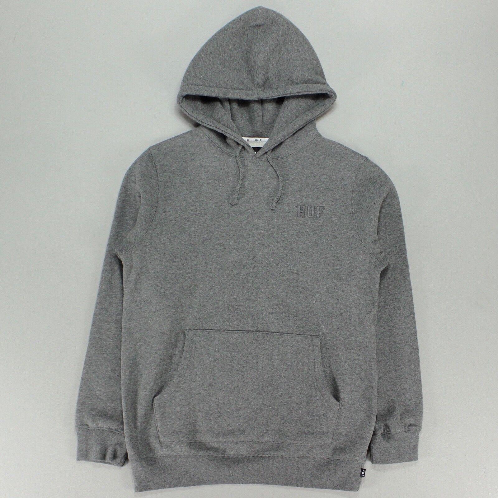 9ae415df8505 Details about HUF Classic H Logo Hoodie Hooded Sweatshirt – Gun Metal  Heather in size S