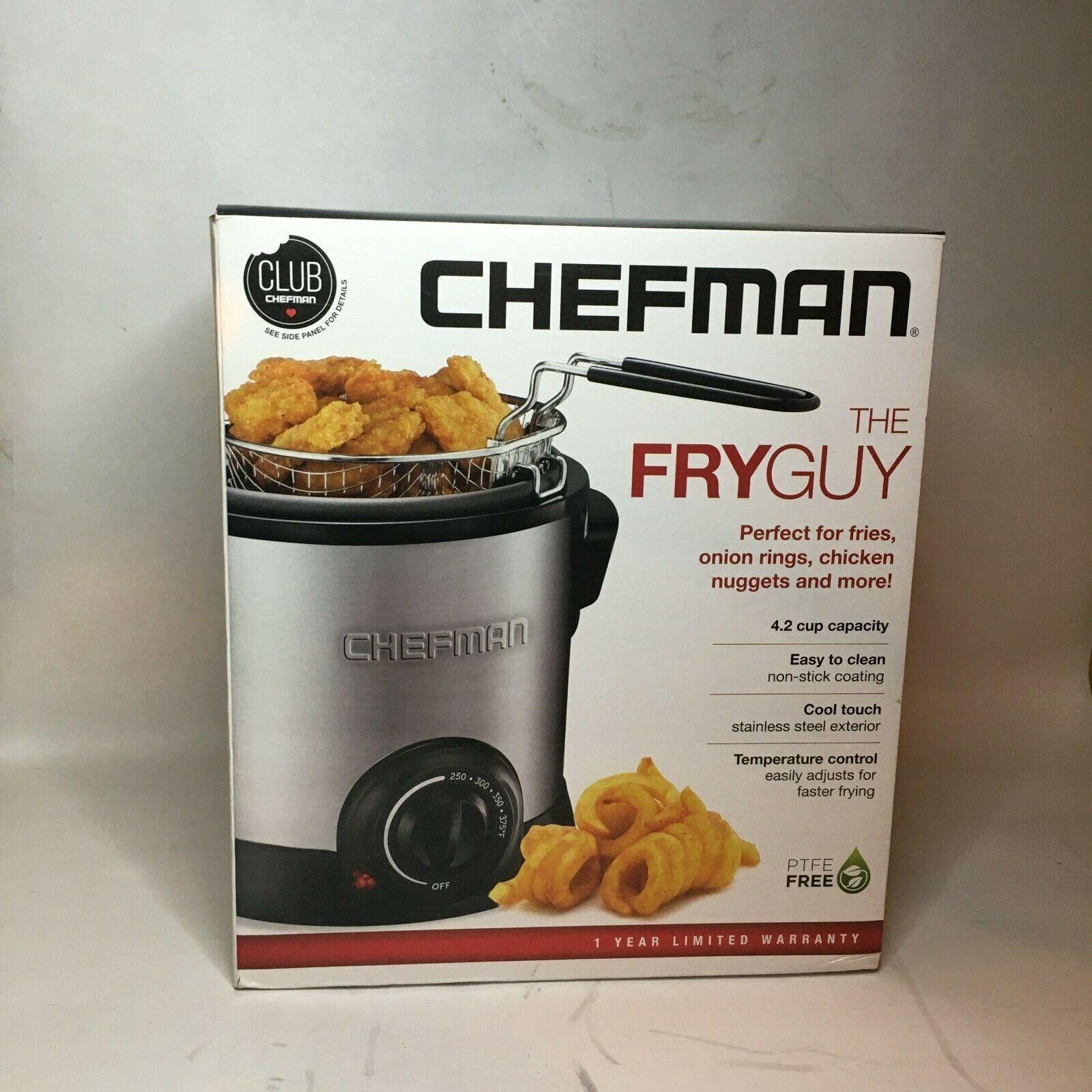 Mini Deep Fryer: Chefman Fry Guy Deep Fryer with Removable B