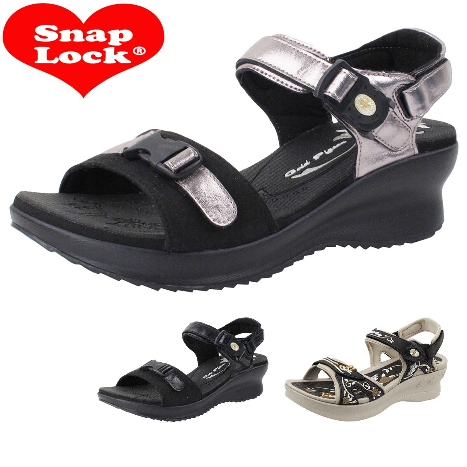 Comfort Padded Light Weight Platform Wedge Sandals for Women