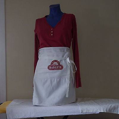 Vintage French Bakers Apron. Cotton