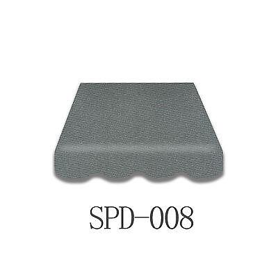 Markisenstoff  Markisenbespannung inkl-Volant 3 x 2,5 m anthrazit Neu SPD-008
