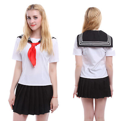 Women Girl Japanese School Girl Sailor Uniform Cosplay Costume Dress - Halloween Costume Japanese School Uniform