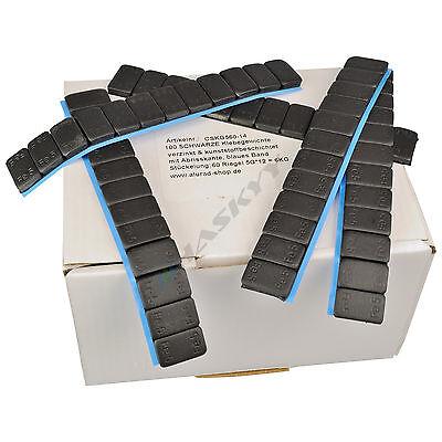 50 SCHWARZE Auswuchtgewichte 12x5g Klebegewichte Stahlgewichte Kleberiegel 3KG