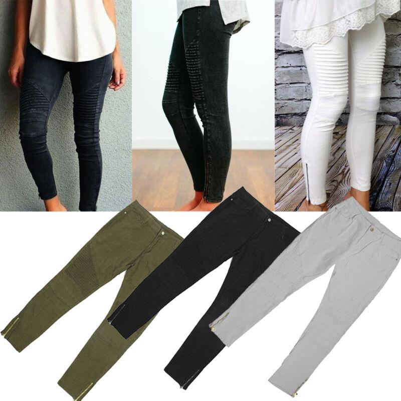 UK Plus Size Women High Waist Casual Lace Short Leggings Safety Pants Jeggings