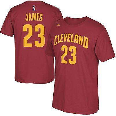 New Adidas Cleveland Cavaliers Lebron James Player Jersey T Shirt Men M Xxl Cavs
