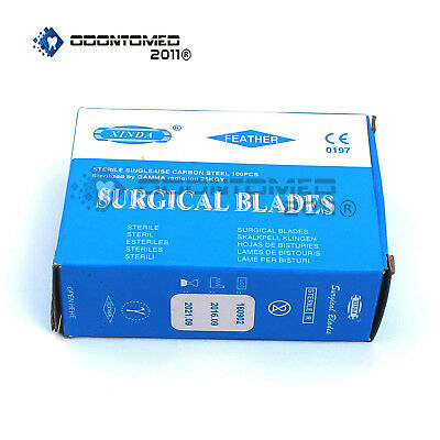 Odm 100 Scalpel Blades 15 Surgical Dental Ent Instruments