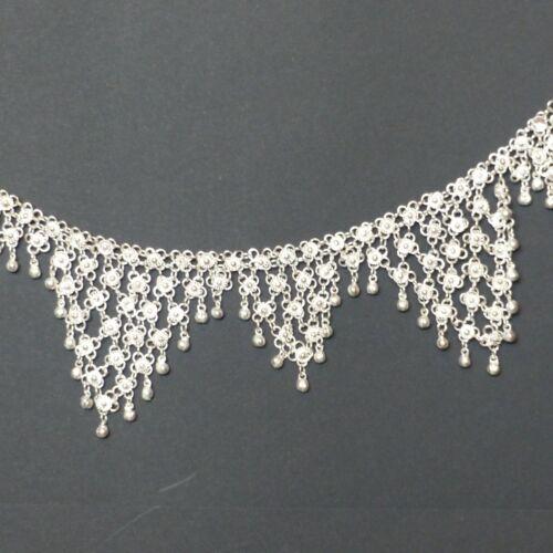 Bauchkette  für orientalischen Tanz und als Hüftgürtel Weissmetall versilbert