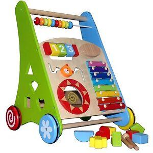 Lauflernwagen Lauflernhilfe Holz Baby Walker Laufwagen Gehfrei Puppenwagen NEU