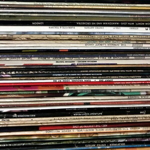 Vinyl Record Lot (5) 33rpm Random Classical, Oldies, Soundtrack, Big Band MORE
