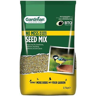 Gardman No Mess Seed Mix Bird Feeding, Sunflower Hearts, Peanut Bites - 12.75 Kg