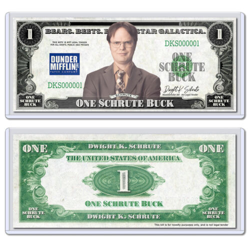Collectible Novelty Schrute Buck Dollar Bill with Case Funny Money The Office