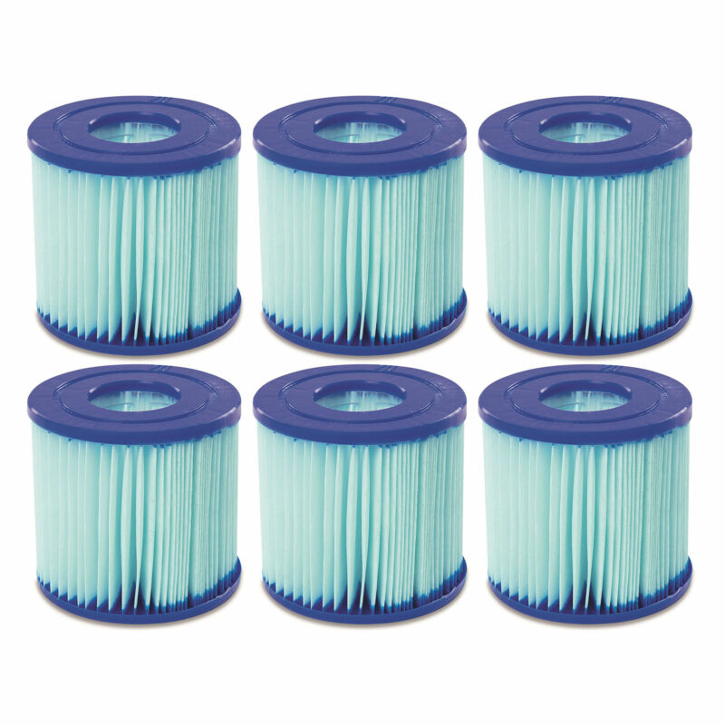 Bestway 58504E Flowclear Antimicrobial Type VII/D Pool Filter Cartridge (6 Pack)