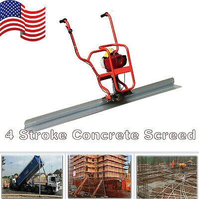 Gas Power 4 Stroke Concrete Surface Vibratory Leveling Screed 6.56 Tamper Blade