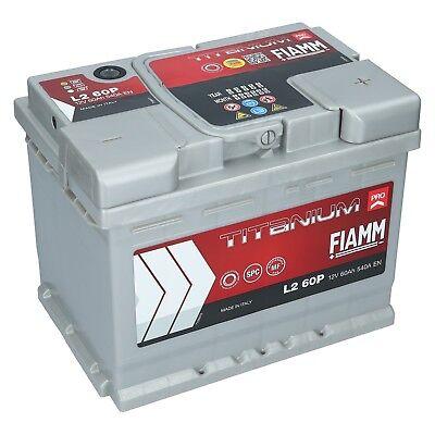 Autobatterie Fiamm 60Ah 12V Titanium Pro Starterbatterie TOP Angebot GELADEN