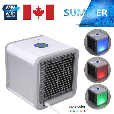 Portable USB Mini Air Conditioner Cooler Household For Bedroom Cooler Fan LED CA