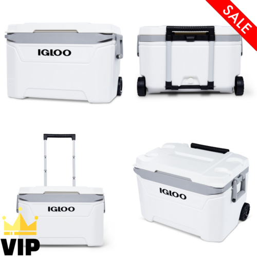 60 Qt. Sunset Rolling Cooler With Wheels Outdoor Camping Tri