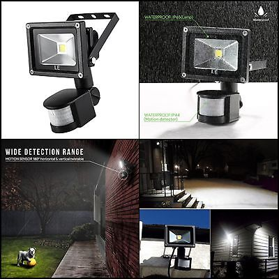 Motion Sensor Flood Light Waterproof Security Safety LED Lights Indoor Outdoor