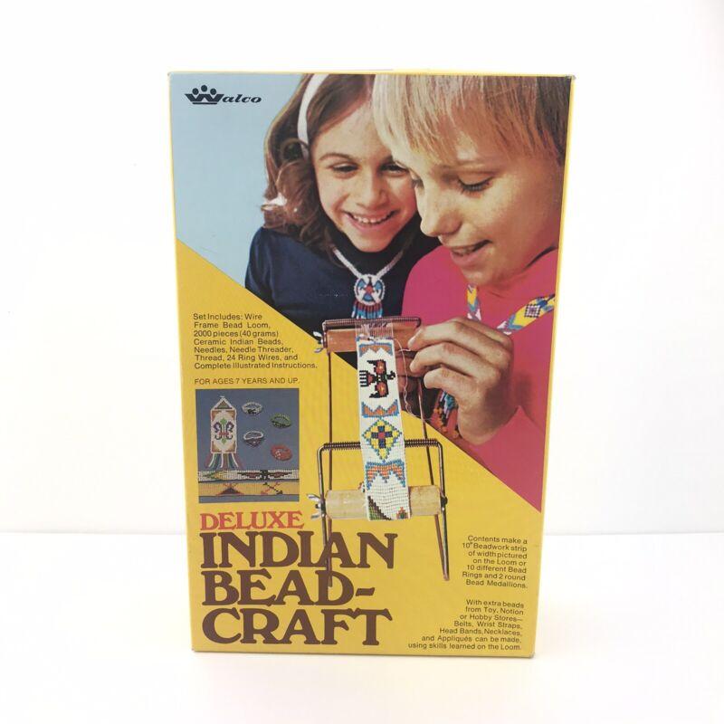 Vintage Deluxe Indian Bead Craft Loom Walco Jewelry Making Bracelets Rings