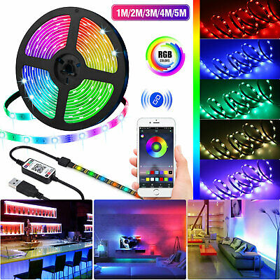 USB LED Strip Bluetooth 5V RGB 5050 Flexible Ribbon Ambilight TV Light Backlight