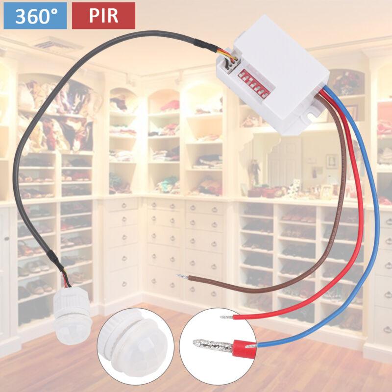 Mini Bewegungsmelder zum Einbau Sensor PIR Unterputz 360° für LED Detector 800W