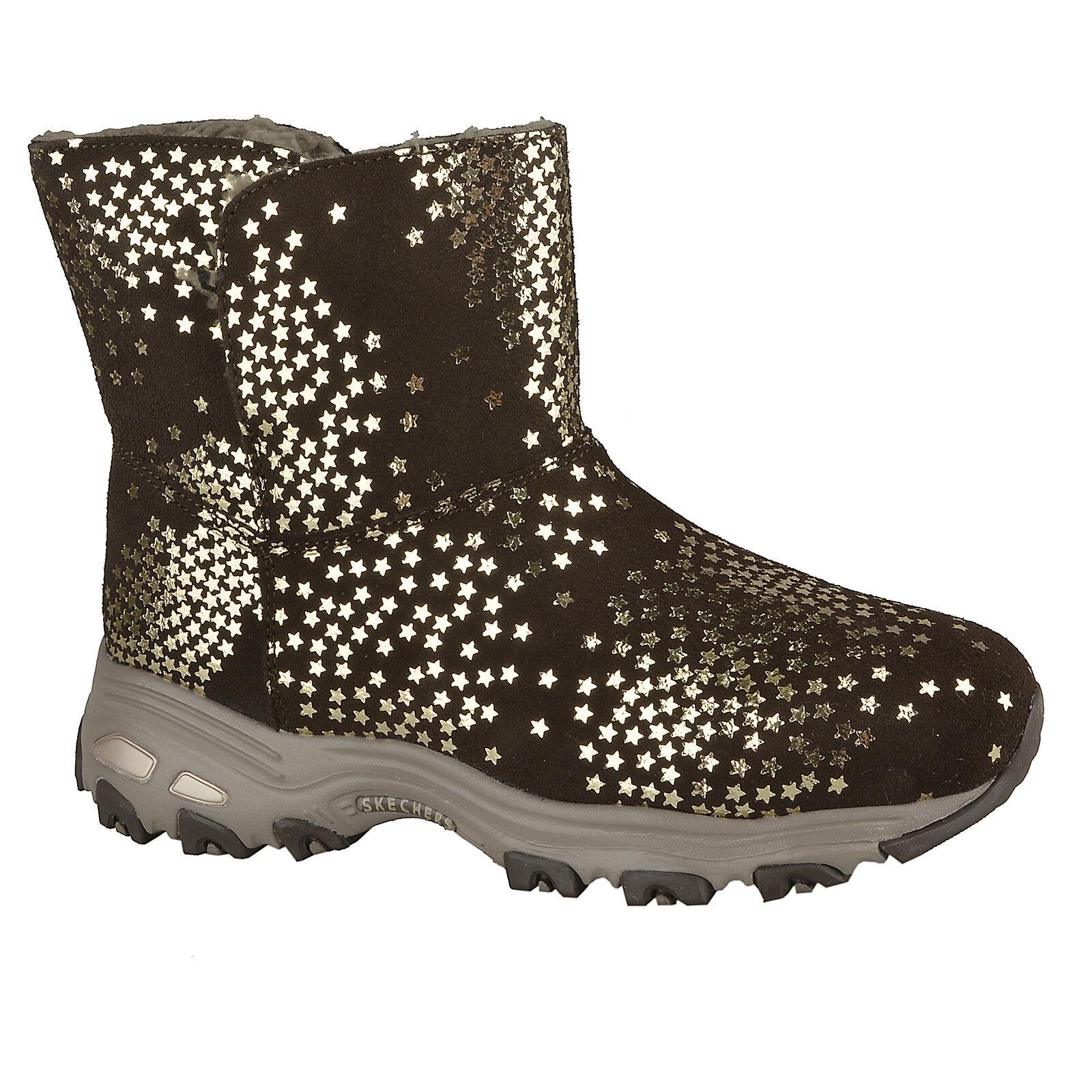 new product 6351d c31d6 Details zu NEU SKECHERS Damen Stiefel Winter Rutschfest Leder D'LITES -  DRACO Braun