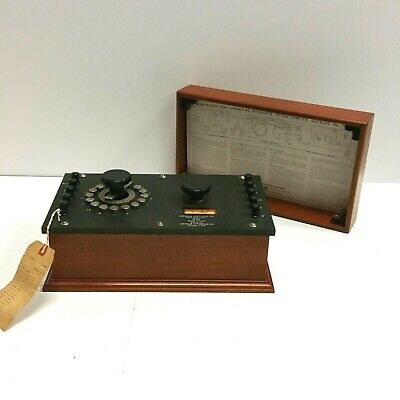 Awesome - Leeds Northrup Potentiometer Cat. No. 7651 In Wooden Box 1950s Nice